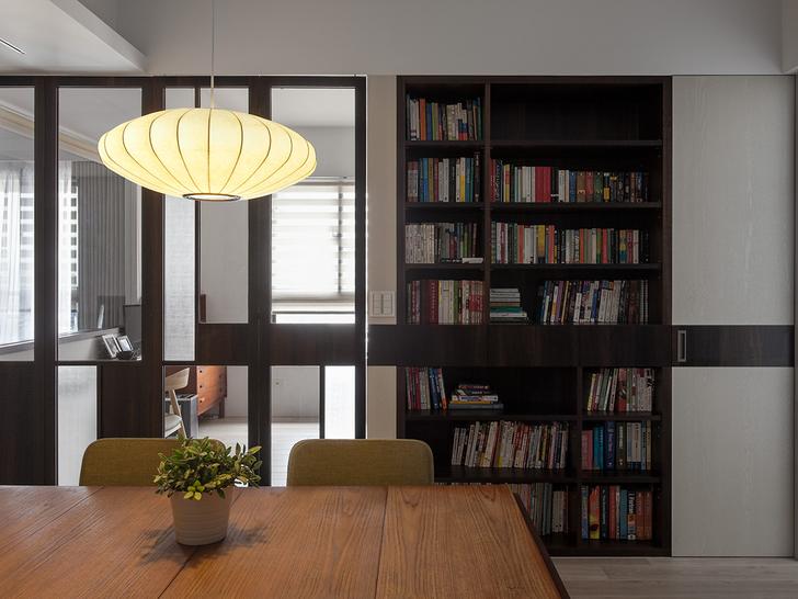 中式木地板室内设计效果图书房